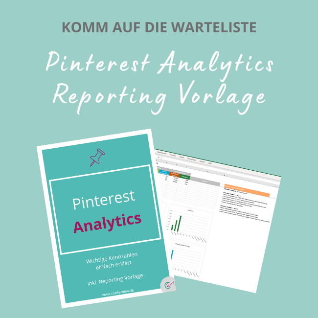 Pinterest Analytics Reporting Vorlage