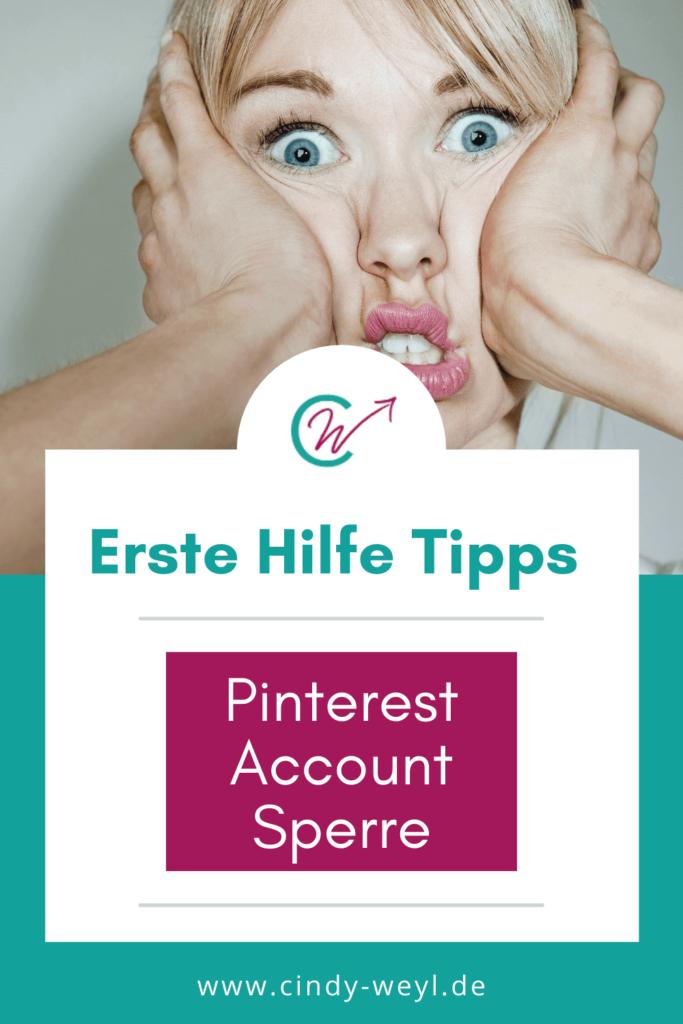 Pinterest Account Sperre Tipps