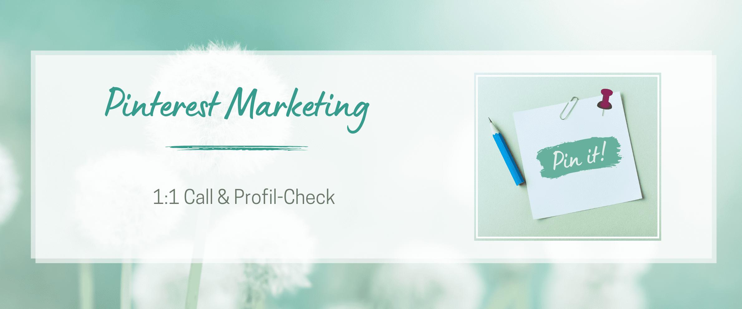 Pinterest Call & Profil Check